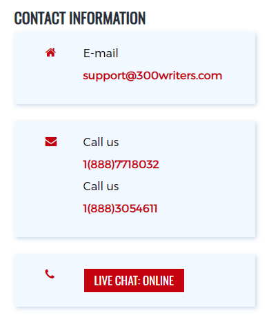 300Writers.com Support